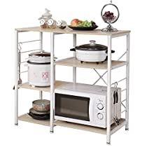 Soges 3-Tier Kitchen Bakers Rack Utility Microwave Oven Stand Storage Cart Workstation Shelf