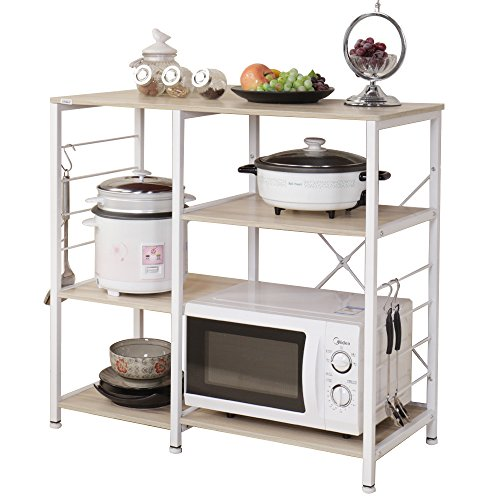 Soges 3-Tier Kitchen Baker's Rack Utility Microwave Oven Stand Storage Cart Workstation Shelf 171-MO-CA
