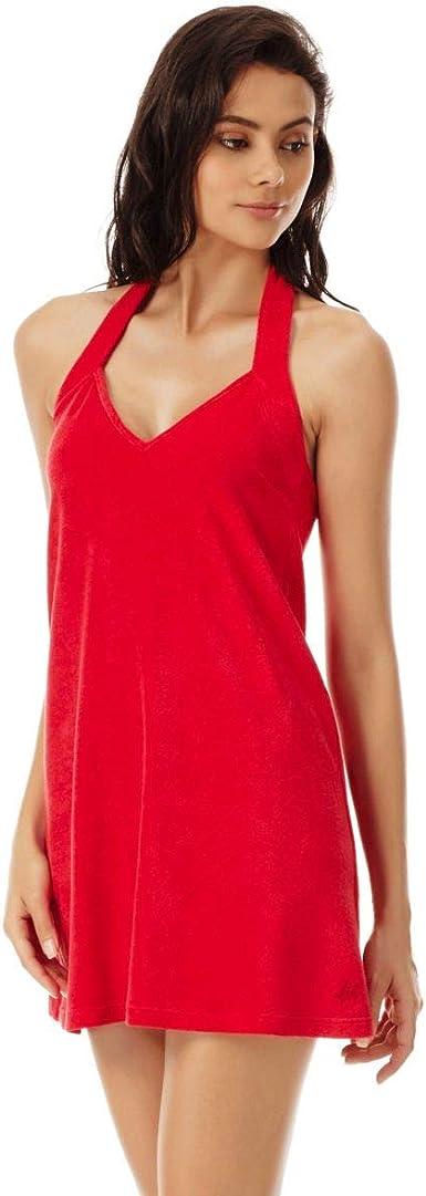 Vilebrequin Robe Dos Nu En Eponge Femme Unie Red Polish Xl Amazon Fr Vetements Et Accessoires