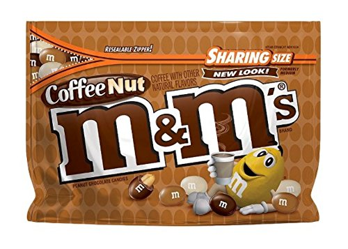 M&M New Flavor Chocolate Candy Sharing Size Pack (Coffee (Mini Coffee Candy)
