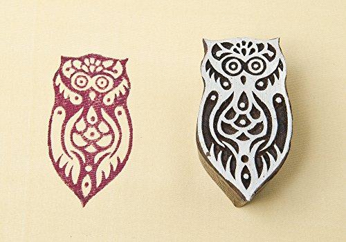 - Blockwallah Totem Owl Wooden Block Stamp