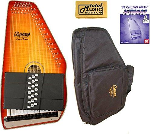 Oscar Schmidt 21 Chord Autoharp, Flame Maple Top, Honey Sunburst, OS11021FHS (Sunburst Top Maple Honey)