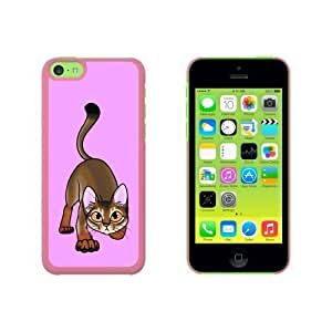 Abyssinian Cat On Pink - Pet Snap On Hard Protective For Iphone 5C Phone Case Cover - Pink