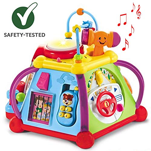 First Toys - Activity Cube Toys | Musical Toys For Toddlers with Lights and Sound | 15 in 1 Interactive Educational Activity for Early Learning - Developmental Toys For Babies (9 M+)