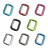 Medium Size Aluminum Alloy Rectangle Shape Locking Mounting Carabiner Snaphook for Bag or Outdoor Activities, 100 Piece