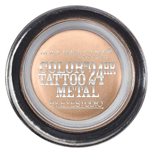 Maybelline New York Eyestudio ColorTattoo Metal 24HR Cream Gel Eyeshadow, Barely Branded, 0.14 Ounce (1 Count)