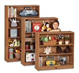 Sproutz Play School Home Multipurpose Kids Storage Organizers Furniture Décor Accessories Bookcase - 60'' High - Red