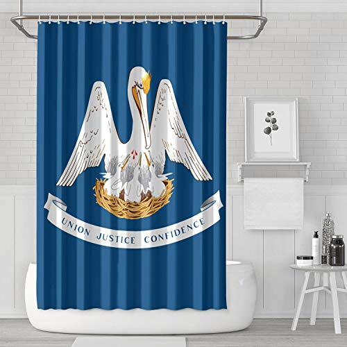 - MAGGE Louisiana State Flag Shower Curtain Cute Waterproof Shower Curtain Liner Bathroom Shower Curtains 71