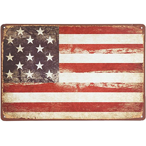 Flag Vintage Metal - Uniquelover American Flag Retro Vintage Tin Sign 12
