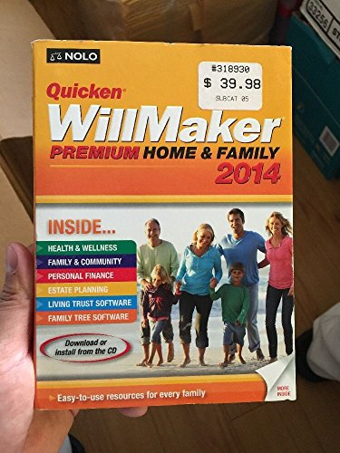 Quicken WillMaker Premium 2014 Home & Family - with Living Trust Maker software (Home Health Software compare prices)