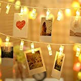 Deppon 16Ft 50 LED Photo String Lights Battery Operated with Clips, Home Decor Remote Control Fairy Lights with 8 Modes for Hanging Pictures and Memos