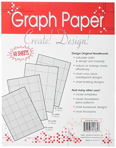 Crafters Helper Needlework Graph Paper, 8-1/2 by