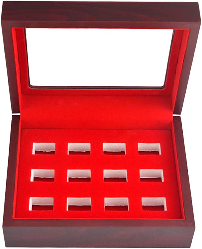 Black Ring Box Ring Storgae Organizer Ring Display Case Wooden Ring Jewelry Box