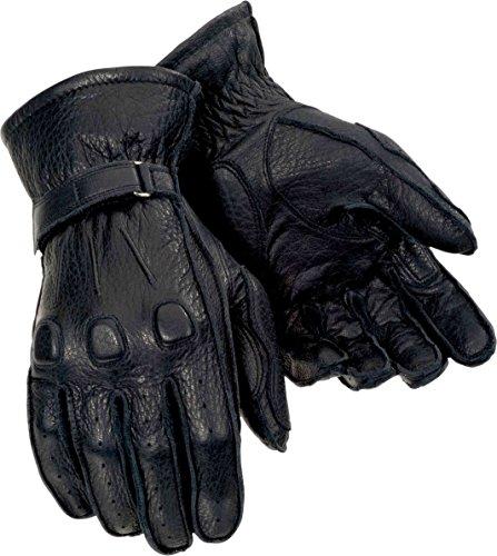 Tour Master Deerskin Mens Leather Cruiser Motorcycle Gloves - Black / Large (Motorcycle Master Glove Tour)
