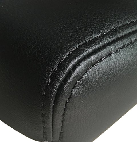 Center Console Lid Armrest Leather Cover Replace for 2004 2005 2006 2007 2008 2009 2010 2012 2013 2014 Nissan Titan Pickup Truck Black