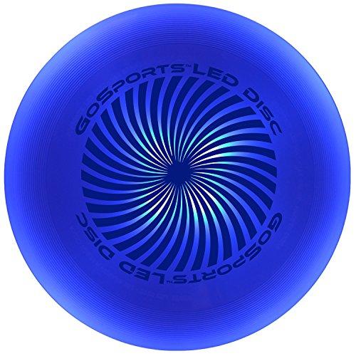 GoSports LED Flying Disc, 175 grams, with 4 LEDs, Blue