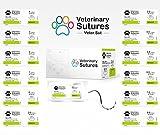 Veterinary Sutures Vet-Lon Nylon 3-0, 3/8 Round 19mm Reverse Cutting Needle