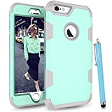 iPhone 6S Case, iPhone 6 Case, Cattech Three Layer Hybrid High Impact Resistant Shockproof Full-Body / Heavy Duty Protective Cover Case for Apple iPhone 6/6S [4.7 inch] + Stylus (Aqua / grey) Reviews