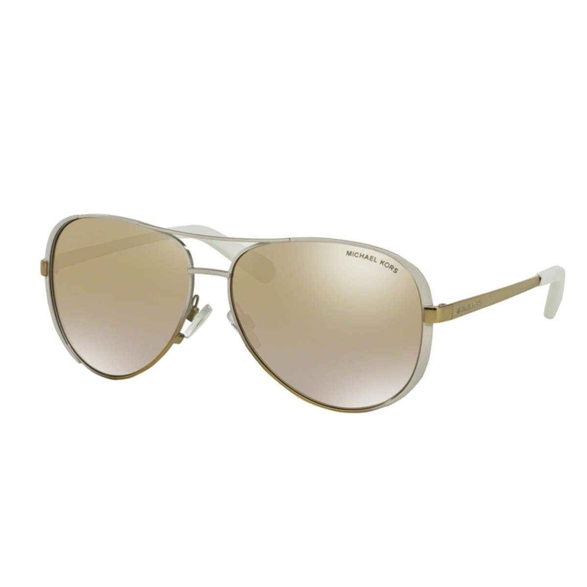 Michael Kors MK5004 10166E 59 Chelsea Sunglasses, White/Gold Fade