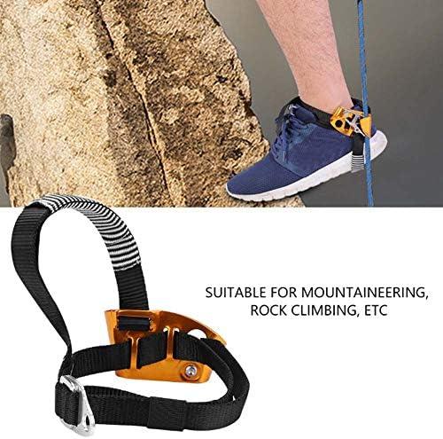 Fsskgxx ascendedor de pie Cuerda de pie Izquierda/Derecha para Equipo de montañismo de Escalada en Roca - Derecha