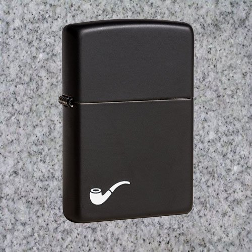 Zippo Pipe Lighter, Black Matte