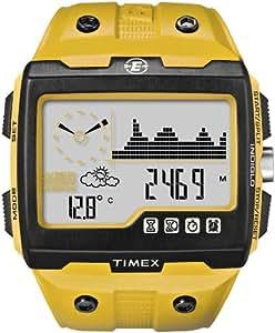 Timex Timex Expedition WS4 - Reloj de caballero de cuarzo, correa de plástico color amarillo (con luz, brújula y gps, altímetro, multifunción)
