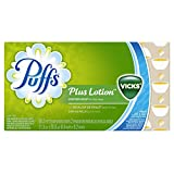 Puffs Plus Lotion With The Scent of Vicks Facial Tissues, 88 Count (Pack of 24)