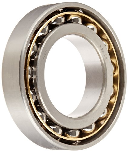 NSK 7211BYG Angular Contact Ball Bearing, Single Row, 40° Contact Angle, Straight Bore, Flush Ground, Stamped Brass Cage, Normal Clearance, 55mm Bore, 100mm OD, 21mm Width, 4150rpm Maximum Rotational Speed, 7610lbf Static Load Capacity, 9920lbf Dynamic Load Capacity