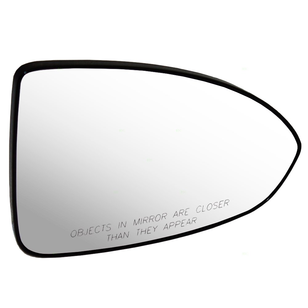 Side View Mirror Glass with Base Passenger Replacement for 11-15 Chevrolet Cruze /& 16 Cruze Limited 95215095 GM1323488