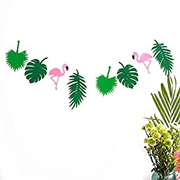 Tinksky Hawaii Themed Summer Party Banner Garland Festival Luau Beach Party Banner