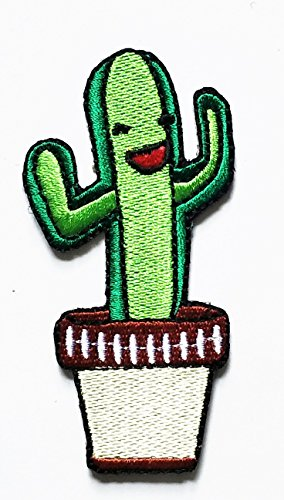 Cactus Costume Pattern (Cactus Fantasy Patch Iron On Embroidered Applique Patch Green Color patch Cartoon Movie patch Kid Baby Boy Jacket T Shirt Patch Sew Iron on Embroidered Symbol Badge Cloth Sign Costume)
