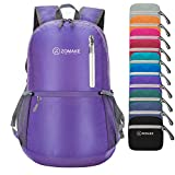 ZOMAKE Ultra Lightweight Travel Backpack - Durable Packable Water Resistant Backpack Small Daypack for Women Men(Purple)
