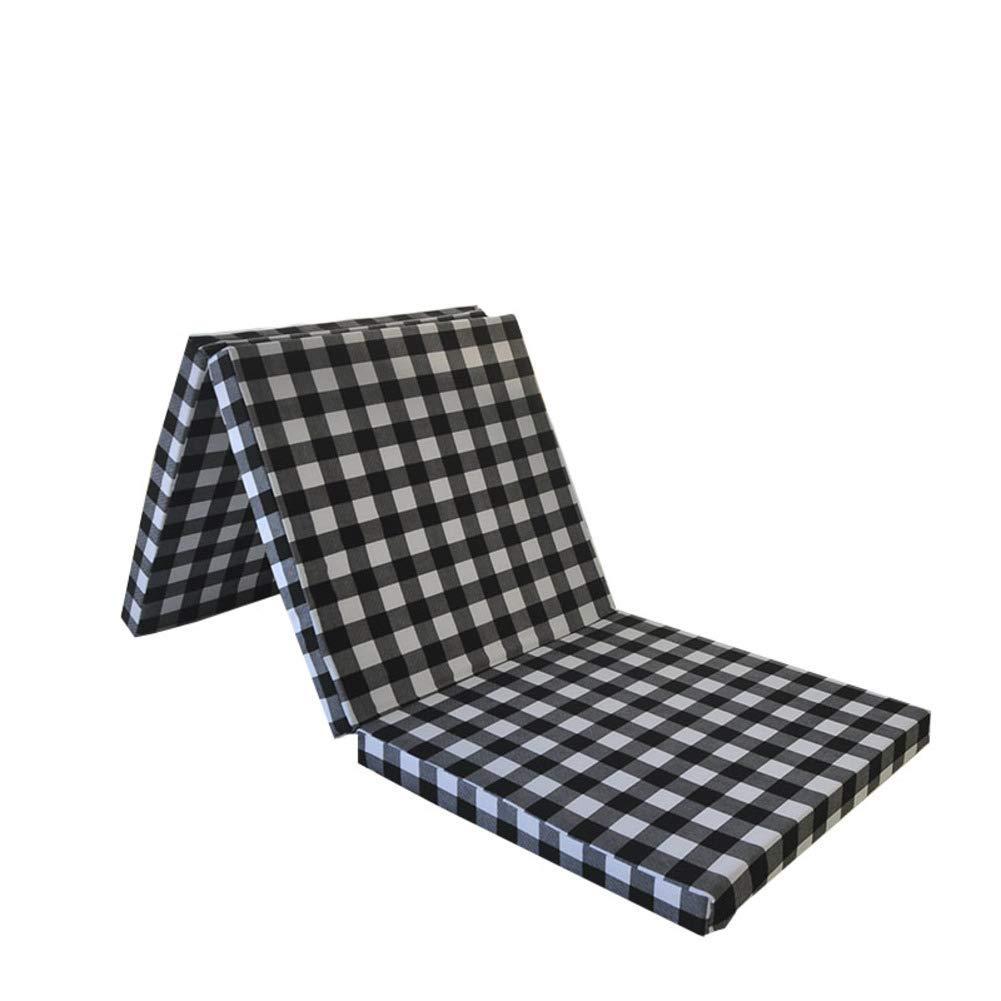 Udane Matratze Tatami-Bodenmatte zum Schlafen, weiche Dicke Schaumstoffmatratze, faltbar, atmungsaktiv, hautfreundlich, 190 x 150 cm, Grün, Lattice, 200x200cm(79x79inch)