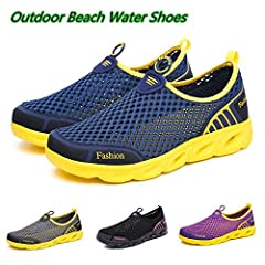 Type: Beach Shoes;summer Shoes;Flats;Brand Shoes;Sandals;Casual Shoes Size: 35-45 Upper Material: net cloth Men&Women Aqua Shoes Outdoor Beach Water Shoes Upstream Creek Snorkeling Boots Neoprene Non-Slip Lightweight Please note. Simple p...