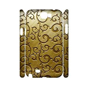 Gold Pattern 3D-Printed ZLB566794 Custom 3D Phone Case for Samsung Galaxy Note 2 N7100