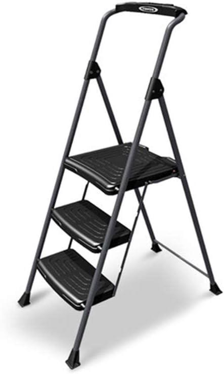 LYX® Escalera de Ingeniería, Escaleras Escaleras Plegables para el Hogar, Establebles Escalera de Una Cara Escalera Interior de Tres Pasos, Pedal Ancho, Escalera de Hierro, Escalera Móvil, Capacidad d: Amazon.es: Electrónica