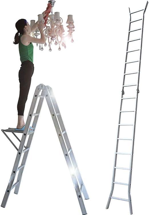 Qiangmei Escaleras Plegables Aluminio Escalera Plegable ...