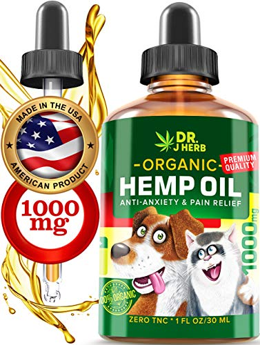 - Hemp Oil for Dogs Cats Natural Hemp Extract Drops 1000 mg Made in USA Natural Dog Pain Relief Pet Stress & Anxiety Calming Support Health Easily Apply to Treats Pet Hemp Oil