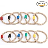 Goutoports Multicolor Quoits Ropes for Kids Ring Toss Game