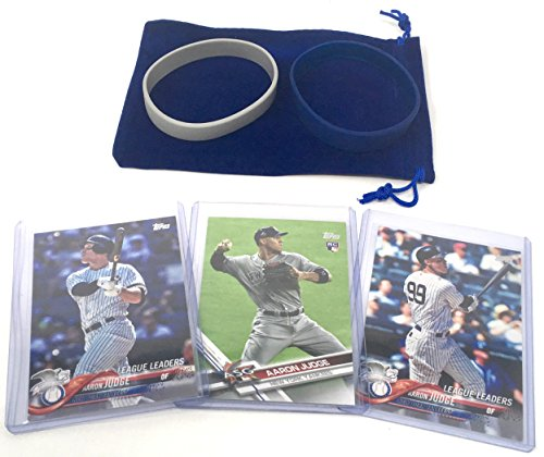 Aaron Judge Cards (3) with 1 Rookie Card - Assorted New York Yankees Baseball Card Bundle, Collectible Trading Cards from Panini, Bowman, Topps