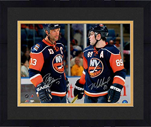 (Framed Mike Comrie Talking with Bill Guerin Dual Signed 16x20 Photo - Steiner Sports Certified - Autographed NHL Photos)