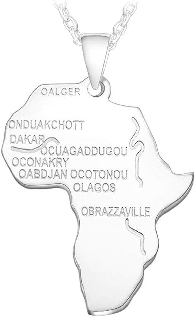 Cartina Dell Africa In Bianco E Nero.Aisoway Africa Collana Pendente Dell Oro Di Colore Chain Africano Mappa Hiphop Regalo Per Gli Uomini I Monili Delle Donne Etiope Trendy P544 All Ingrosso Amazon It Abbigliamento