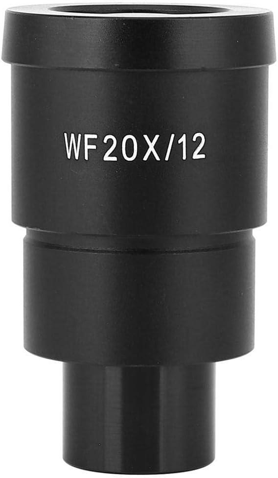 Taidda Eyepiece,Wide Angle Eyepiece Microscope Eyepiece Sturdy WF20X//12mm Wide Angle High Eyepoint Optical Lens Scale Eyepiece with Wide-Angle Eyepiece for Stereo Microscope