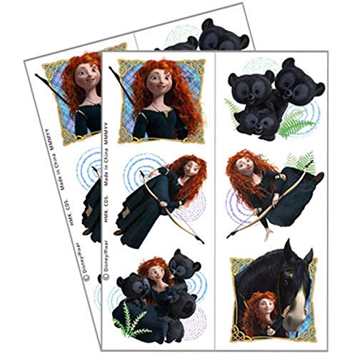 BRAVE TEMPORARY TATTOOS (2 sheets) ~ Birthday Party Supplies Favor Disney Merida - Disney Party Favor Brave