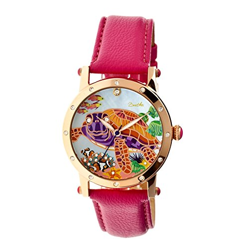bertha-womens-chelsea-mother-of-pearl-hot-pink-leather-watch