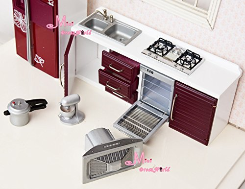 1 12 Dollhouse Miniature Toy Kitchen Furniture Red Stove