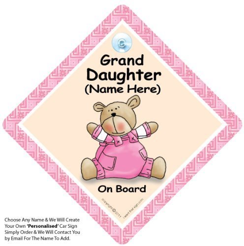 Personalised Baby on Board Signs Granddaughter on board Car Sign Custom Baby on Board Sign Custom Personalised Car Signs PINK QUILT baby on board WELL ADD ANY NAME To Create Your Own Personalised Baby on Board Sign Personalised Baby On Board Sign