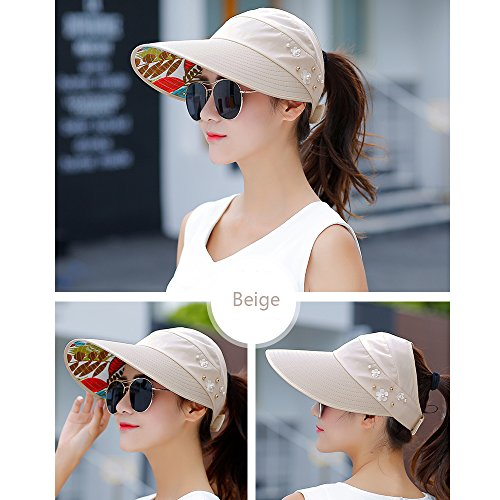 0d3d53fa5efb2 9Lucky Tech Sun Hats for Women Wide Brim Sun Hat UV Protection Caps UPF 50+