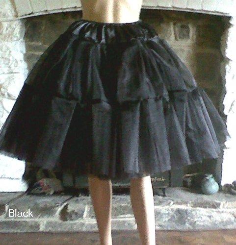 Hepburn - Falda satinada y de organza (talla de cadera 120 cm ...