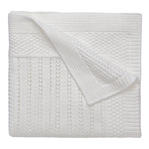 Elegant Baby 100% Cotton Seed Knit Blanket, Cream, 30